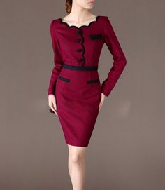 Winter Dress Elegant Woolen Dresses Christmas