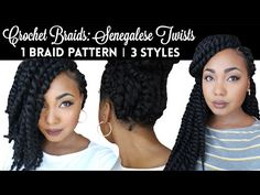 Senegalese Crochet Twists: Easy Braid Pattern For Natural & Versatile Protective Styling - YouTube