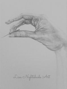 Hand and needle drawing wip