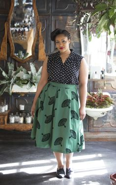 Great green skirt.