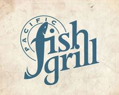 Pacific Fish Grill / logo design / 30 Restaurant Logos for Design Inspiration Food Logo Design, Best Logo Design, Logo Food, Branding Design, Graphic Design, Corporate Branding, Menu Design, Logo Branding, Brand Identity