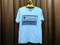 Vintage 70s 80s Champion Products USA Medium size Blue Label T Shirt by ArenaVintage