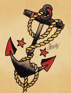 A Old School Tattoo  antecede a tatuagem moderna, pós-década de 70, remetendo a temas voltados à Marinha, imagens de mulheres, corações, ro...