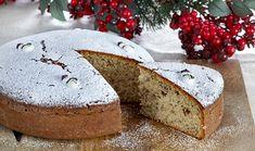 """Traditional Greek New Year Cake """"Vasilopita"""" recipe New Year's Desserts, Greek Desserts, Greek Recipes, Veggie Recipes, Greek Christmas, Christmas Bread, Christmas Time, New Years Eve Cake, Vasilopita Recipe"""