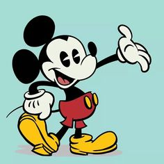 The still gif of Mickey waving.