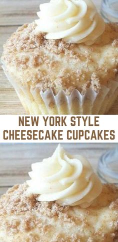 You will need : 20 ounces cream cheese, softened cup sour cream 1 tablespoons flour cup sugar Cheesecake Cupcakes, Cheesecake Bites, Yummy Cupcakes, Cheesecake Recipes, Trifle Desserts, No Bake Desserts, Just Desserts, Dessert Recipes, Yummy Snacks