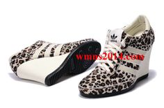 huge discount 1b5f0 d2a1f 2013 Adidas Leopard Womens Originals Jeremy Scott Arrow Wedge Black