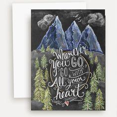 Wanderlust Card - A2 Note Card