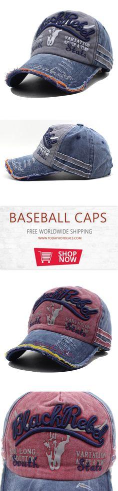 Retro Adult USA Texas American Flag Washed Denim Cowboy Style Baseball Caps Lightweight Hip Hop Hat