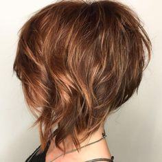 A-Line Amber Bob Wispy Layered Angled Bob With Highlights Related Best New Pixie And Bob Haircuts for Women 2019 - Pixie Hairstyle - Page 12 Impressive Short Bob Hairstyles To TryWe thought you might like these 18 pins. Medium Hair Styles, Curly Hair Styles, Natural Hair Styles, Medium Curly, Short Hair With Layers, Short Hair Cuts, Angled Bob With Layers, Wavy Layers, Graduated Bob Hairstyles