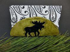 Moose Ceramic Napkin Holder, Napkin Holder, Taco Holder, File HolderWild Crow Farm Pottery by WildCrowFarmPottery on Etsy