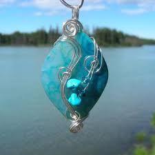 Risultati immagini per wire wrapping a stone pendant
