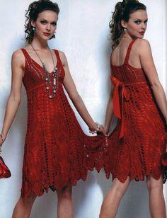 Gancho de vestido vermelho