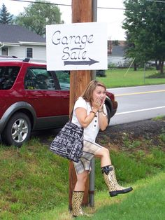 I'm in Horseheads, NY- stopping at my first yard sale.  hahahaha @Michele Hale Bruner
