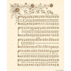 To God Be The Glory a. Praise The Lord! Praise the Lord! - Christian Heritage Hymn Sheet Music Vintage Style Natural Parchment Sepia Brown Ink art print ready to frame Vintage Verses Hymns Of Praise, Praise Songs, Praise The Lords, Worship Songs, Bible Songs, Church Songs, Church Music, Jesus Son Of God, Hymn Art