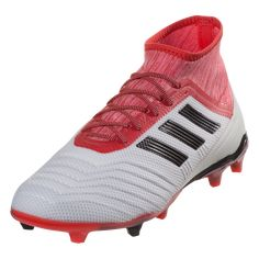 wholesale dealer 96d26 ef2bb adidas Predator 18.2 FG Soccer Cleat - White Black Real Coral
