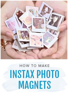 How to Make Instax Photo Magnets, polaroid DIY craft ideas. Shop the video >
