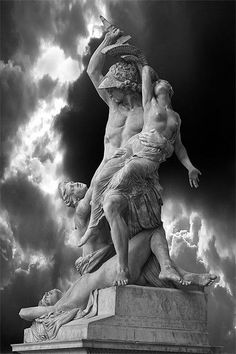 """The Rape of Polyxena"", sculpture by Pio Fedi (1816-1892), 1866 Florence, Italy.,"