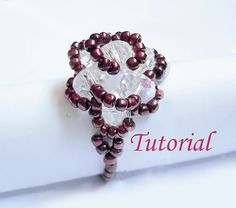 Beading Tutorial  Beaded Vintage Rose Ring by Splendere on Etsy, $5.00