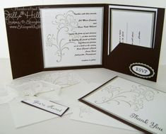 Jill's Card Creations: Absolutely beautiful wedding invite - Stampin up Wedding Sweet
