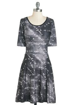 Formula for Success Dress. The equation for a perfect day is simple - just add this printed dress to your favorite activity! #black #modcloth