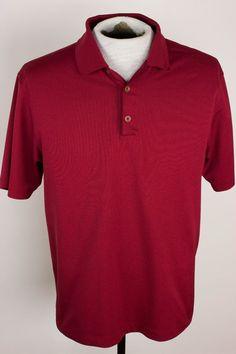 Nike Golf Dri Fit Mens Sz M Maroon Polo Golf Shirt  #Nike #PoloRugby