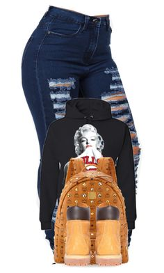 """""""Timberland Outfit (#6)"""" by qveendesarae ❤ liked on Polyvore featuring MCM and Timberland"""