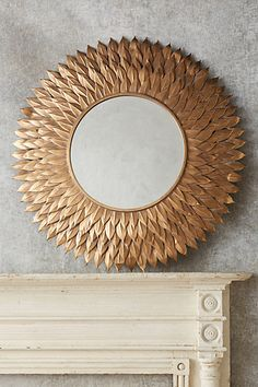 Golden Pheasant Mirror #anthropologie