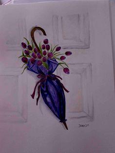 Akvarel - inktense.