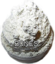Bones SAMPLE SIZE Mini Jar Bone White Neutral by lumikkicosmetics, $2.50