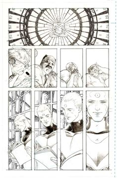 """Multiversity: Pax Americana"" pencils, by Frank Quitely"