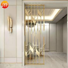 Carve Stainless Steel Metal Home Partition Furniture Demountable Partitions Floor To Ceiling Room D - Travel tips - Travel tour - travel ideas Living Room Partition Design, Room Partition Designs, Partition Ideas, Partition Screen, Living Room Divider, Home Room Design, Home Interior Design, Interior Decorating, Interior Styling