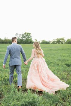 Nikki Ferrel's gorgeous blush Marlo Ford gown: http://www.stylemepretty.com/2016/05/10/see-it-here-first-nikki-ferrel-from-the-bachelor-engagement-session/ | Photography: Alea Lovely - http://www.alealovely.com/