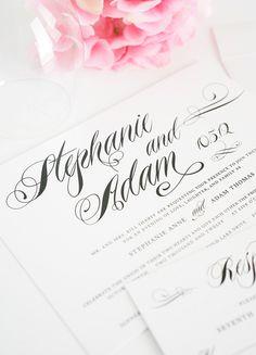 Classic Black and White Wedding Invitations