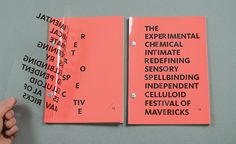 g r a p h i c d e s i g n 25 Year Retrospective Event Brochure Graphic Design Books, Graphic Design Typography, Graphic Design Inspiration, Typography Books, Design Poster, Print Design, Poster Designs, Flyer Design, Buch Design