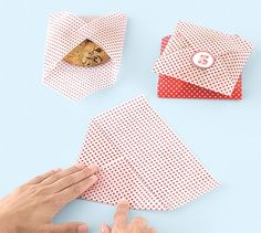 Cookies Wrapped in Decorative Wax Paper, Great way to package homemade cookies as gifts
