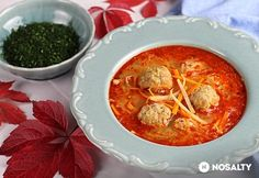 Göcseji gombócleves | NOSALTY Thai Red Curry, Buffet, Food And Drink, Ethnic Recipes, Soups, Heaven, Kitchen, Hungarian Recipes, Sky