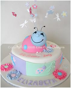 Lady Bug Baby Shower Cake