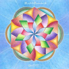 Mandala Apríl 2021: Otváram svoje dary svetu. #mandala #mandalaslovensko #mandalaslovakia #healingart #april #mandalaofapril #april2021 #sacredgeometry Planter Pots, Mandala, Mandalas