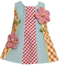 Bonnie Jean Girls 2-6X Mixed Checks Seersucker Dress  Multi  4TFrom #Bonnie Jean List Price: $32.00Price: $18.20