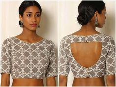 8 Simple blouse back neck design images that will claim the fashionista in you! These delightfully simple blouses will alter you saree style dramatically! Saree Jacket Designs, Saree Blouse Patterns, Choli Designs, Sari Blouse Designs, Blouse Back Neck Designs, Stylish Blouse Design, Beautiful Blouses, Indian Fashion, Sarees