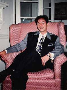 In the early nineties in my home in Hollywood.  Suit was custom made in the 40's style.