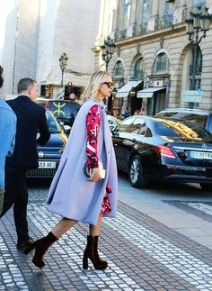Vogue's Elisabeth von Thurn und Taxis spotted on the street at Paris Fashion Week. Photographed by Phil Oh.