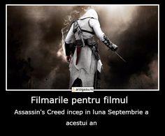 Filmarile pentru filmul  Assassin's Creed incep in luna Septembrie a acestui an