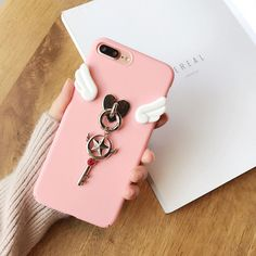 For iPhone 7 Plus Trend Cute cartoon Sailor Moon pink Angel wings case Cover in Cell Phones & Accessories, Cell Phone Accessories, Cases, Covers & Skins