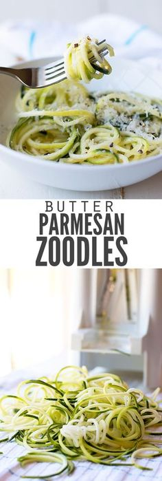 No-cook butter Parmesan zucchini noodles (zoodles) are ready in. No-cook butter Parmesan zucchini noodles (zoodles) are ready in just 10 minutes. Add garlic if you want but its a great light dish for hot summer days! Whole Food Recipes, Diet Recipes, Vegetarian Recipes, Cooking Recipes, Healthy Recipes, Pasta Recipes, Delicious Recipes, Cooking Tips, Budget Cooking