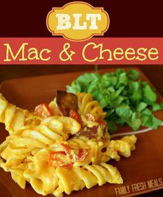 BLT Mac 'n' Cheese #Recipe  Mac & Cheese with a fun twist!