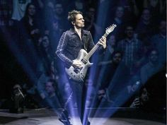 Muse vocalist and guitar player Matt Bellamy in concert at the Bell Centre in Montreal Wednesday January 20, 2016.