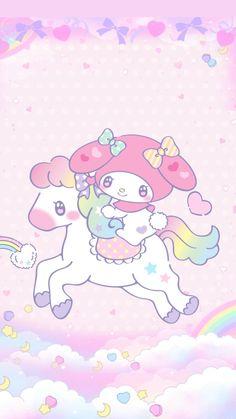𝙹𝚎𝚗𝚗𝚕𝚘𝚟𝚎♡ — My melody unicorn wallpaper by me -. Unicornios Wallpaper, My Melody Wallpaper, Sanrio Wallpaper, Hello Kitty Wallpaper, Kawaii Wallpaper, Sanrio Characters, Cute Characters, Kawaii Anime Girl, Kawaii Art