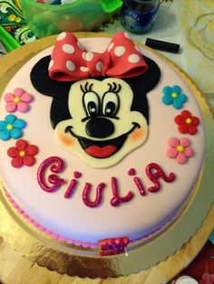#minnie #cakedesign #pastadizucchero Birthday Cake, Cakes, Desserts, Food, Birthday Cakes, Meal, Deserts, Essen, Hoods